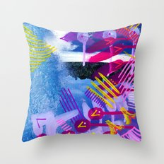 Wave purple Throw Pillow