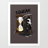discworld Art Prints featuring The Death Of Rats II by kat stark