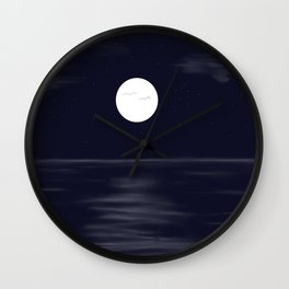 full moon digital design Wall Clock