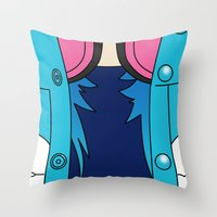 dmmd Throw Pillows featuring Aoba Seragaki Outfit DMMD by Bunny Frost