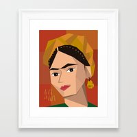 frida khalo Framed Art Prints featuring Frida Khalo Cubism Edition 2 by Design SNS - Sinais Velasco
