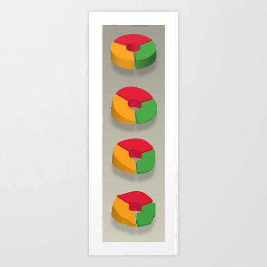 Data Deflated Art Print