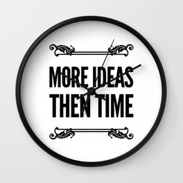 I'm Bubbling Over With Ideas Wall Clock