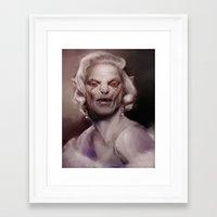 marylin monroe Framed Art Prints featuring Marylin by AnastasiyaCemetery