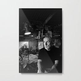 Pablo in His Workshop Metal Print