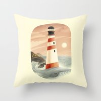 the whale Throw Pillows featuring Whale by Seaside Spirit