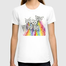 Kittens Puking Rainbows T-shirt