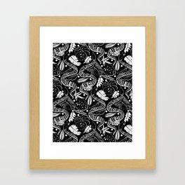 Black Snakes Framed Art Print