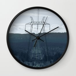 POWERLINES Wall Clock