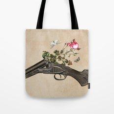 One Gun, One Rose, Two Moths Tote Bag