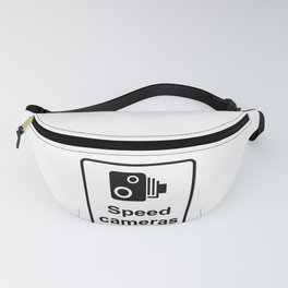 Speed Cameras Sign Fanny Pack