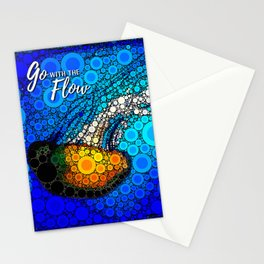 """Go with the flow"" ocean jellyfish photo bubble art Stationery Cards"