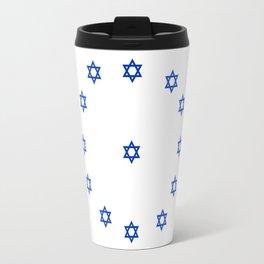 Star of David. A Clock.-Magen David,israel,judaism,bible, מָגֵן דָּוִד, jerusalem Travel Mug