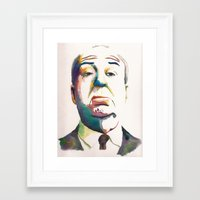 hitchcock Framed Art Prints featuring Hitchcock by totemxtotem