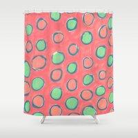 polka dot Shower Curtains featuring polka dot by Jenni Freidman