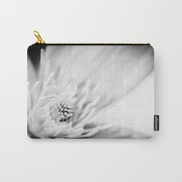 Black and white flower blossom macro Carry-All Pouch