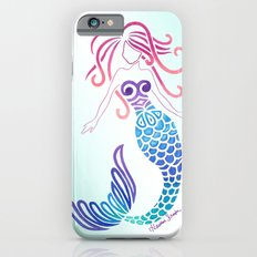 Tribal Mermaid with Ombre Turquoise Background iPhone 6 Slim Case