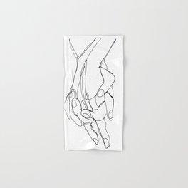 One Line Love Hand & Bath Towel