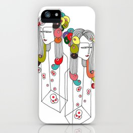 Sisters in a bottle iPhone Case