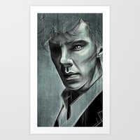 cumberbatch Art Prints featuring Benedict Cumberbatch by Schwebewesen • Romina Lutz