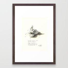 fixed meat Framed Art Print