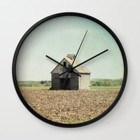 american beauty Wall Clocks featuring American Beauty Vol 21 by Farmhouse Chic