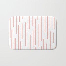 Leitungen Minimalist Pink and White Interrupted Line Pattern Bath Mat