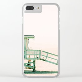Lifeguard Tower Vintage Clear iPhone Case
