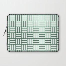 Basketweave (Olive & White Pattern) Laptop Sleeve