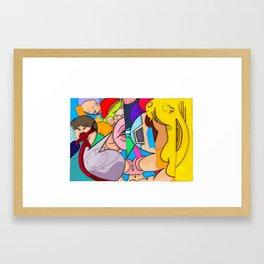 Summer-ing Framed Art Print