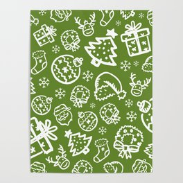 XMAS Green Pattern / Part One Poster