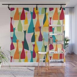 Ollie Cat Bohemian Colorful Pattern Wall Mural
