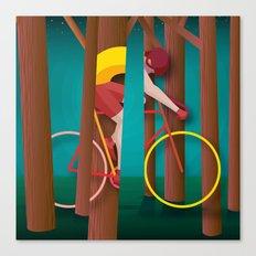 Life is strange, riding bicycle Canvas Print