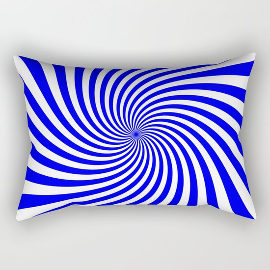 Swirl (Blue/White) Rectangular Pillow