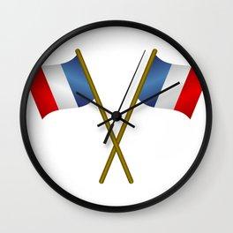 flag of france Wall Clock