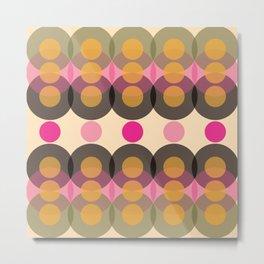 Retro Modern Pattern 1001 Metal Print
