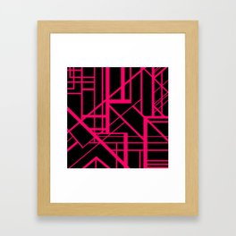 Roadway Of Abstraction - Interstate Abstract Path Framed Art Print