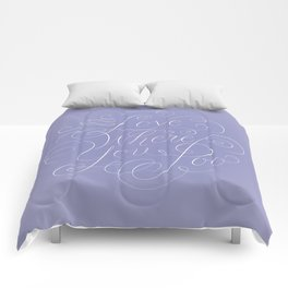 Love Where You Poo - Periwinkle Comforters