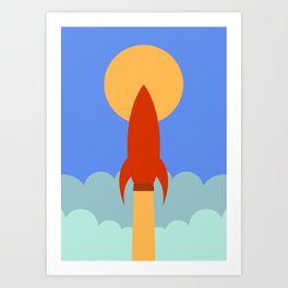 Rocket Blast Off Art Print