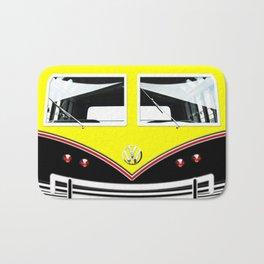 Yellow Art Cute minibus Bath Mat