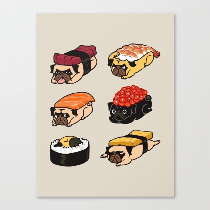 Sushi Pug Leinwanddruck