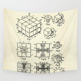 Rubik's Cube-1983 Wall Tapestry
