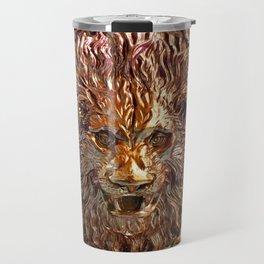 Golden Leo Travel Mug
