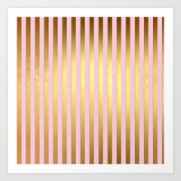 striped Art Prints featuring Striped by Better HOME