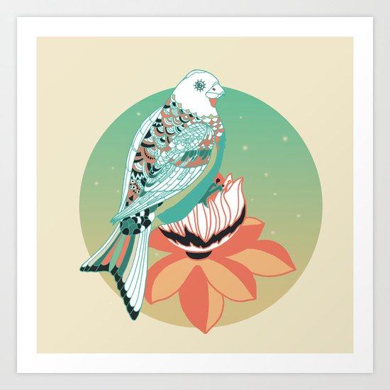 Good Morning lotus Art Print