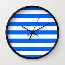 China Blue and White Medium Stripes Wall Clock