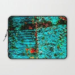 Baby Blue Rusting through Laptop Sleeve