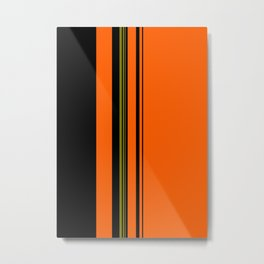 Orange Green Black Metal Print