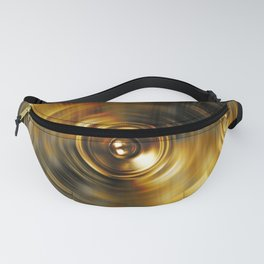 Gold music speakers Fanny Pack