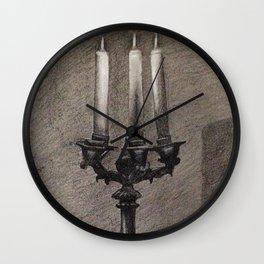 Candelabra Light Study Wall Clock